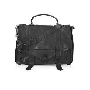 PROENZA SCHOULER Black Leather Large PS1 Bag